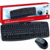 Teclado e Mouse Wireless Genius Kb-8000x 2.4ghz Preto
