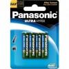 Pilha Aaa Panasonic Comum Cartela com 4 Unidades R03ual/4b400