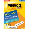 Etiqueta Laserjet Carta 6181 25,4x101,6 Pimaco com 100 Folhas