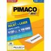 Etiqueta Laserjet Carta 6180 25,4x66,7 Pimaco com 100 Folhas