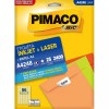 Etiqueta Laserjet A4 A4248 17,0x31,0 Pimaco com 25 Folhas