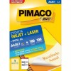 Etiqueta Laserjet A4 A4367 288,5x200,0 Pimaco com 100 Folhas