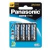 Pilha Aa Panasonic Comum Cartela com 4 Unidades R6p/Um-3shs