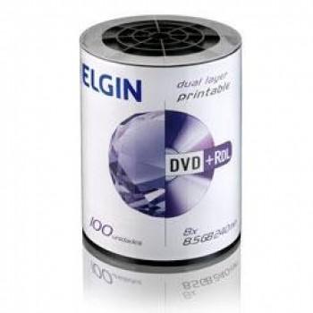 Dvd+r Elgin 8.5gb Dual Layer C/ 100 Printable