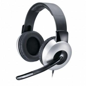 Fone com Microfone Genius Hs05a Prata Arco Ajust�vel