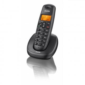 Telefone Elgin S/ Fio com Identificador e Viva Voz Preto Tsf7001