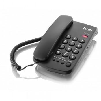 Telefone Elgin com Fio Preto Tcf2000
