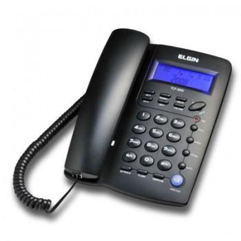 Telefone Elgin com Fio C/ Identificador e Viva Voz Preto Tcf3000