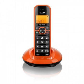 Telefone Elgin S/ Fio com Identificador e Viva Voz Laranja Tsf7600