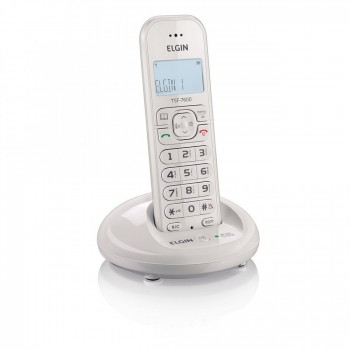 Telefone Elgin S/ Fio com Identificador e Viva Voz Branco Tsf7600