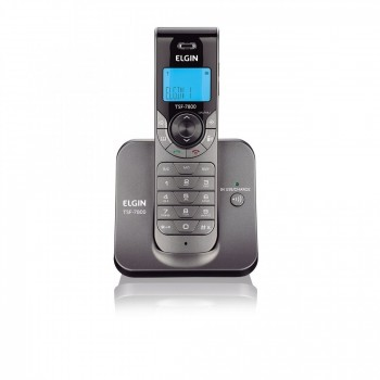Telefone Elgin S/ Fio com Identificador e Viva Voz Grafite Tsf7800