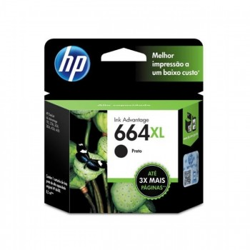 Cartucho Hp 664xl Preto F6v31ab 8,0ml