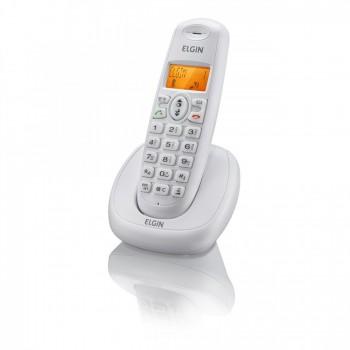 Telefone Elgin S/ Fio com Identificador e Viva Voz Branco Tsf7001