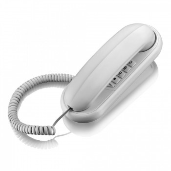 Telefone Elgin com Fio Gondola, Redial, Flash, Pause Branco Tcf1000