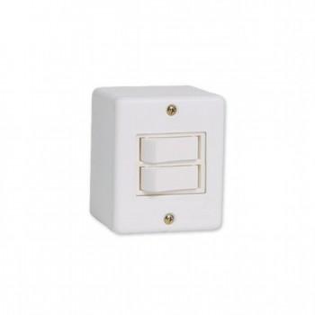 Interruptor 2 Tc Simp Sobrepor Box 6a Ilumi