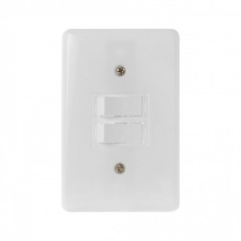 Interruptor 2 Tc Simples C/ Pl 4x2 Stylus Ilumi