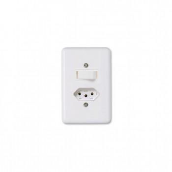 Interruptor 1 Tc Simp + Tom 2p+t Emb 6/10a Ilumi