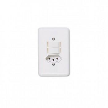 Interruptor 2 Tc Simp + Tom 2p+t Emb Pl 4x2 6/10a Stylus Ilumi