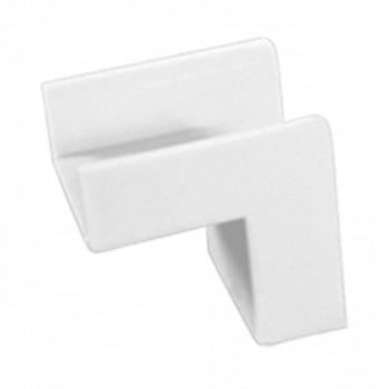 Conex�o P/ Canaleta 20x10mm Cotovelo Interno Branco C/ 20p�s