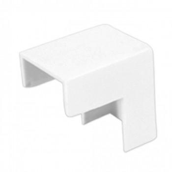 Conex�o P/ Canaleta 20x10mm Cotovelo Externo Branco C/ 20p�s