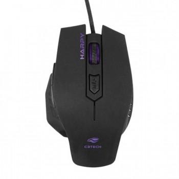 Mouse Usb C3tech Gamer Harpy Mg-100bk Preto