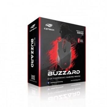 Mouse Usb C3tech Gamer Buzzard Mg-110bk Preto