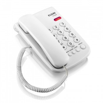 Telefone Elgin com Fio Branco Tcf2000