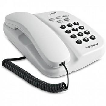 Telefone Intelbr�s com Fio Branco Tc500