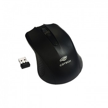 Mouse Wireless C3tech Rc/Nano M-w20bk Preto