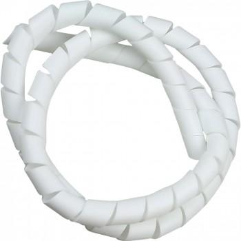 Organizador de Cabos Espiral 3m 12mm Branco