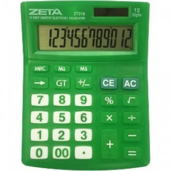 Calculadora de Mesa Zeta 12 D�gitos Zt316-gn Verde