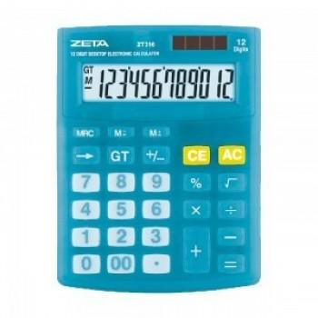 Calculadora de Mesa Zeta 12 D�gitos Zt316-bl Azul