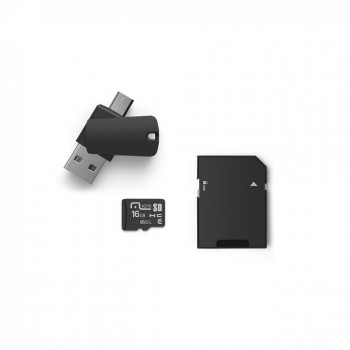 Cart�o de Mem�ria 4x1 16gb Multilaser Kit Dual Otg