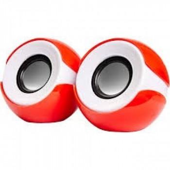 Caixa de Som Exbom 2.0 Cs-69 Mini Vermelho e Branco