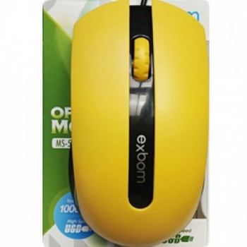Mouse Usb Exbom Ms-50 Amarelo