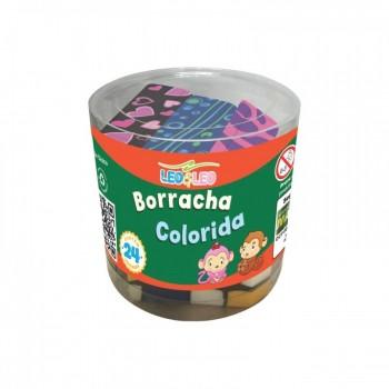 Borracha Colorica Leo&leo Pote com 24 Unidades