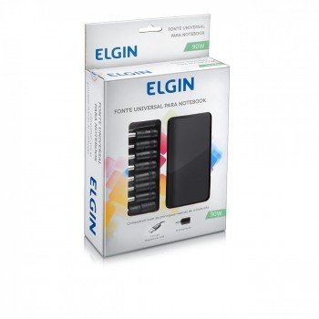 Fonte P/ Notebook Elgin 90w Universal C/ Usb