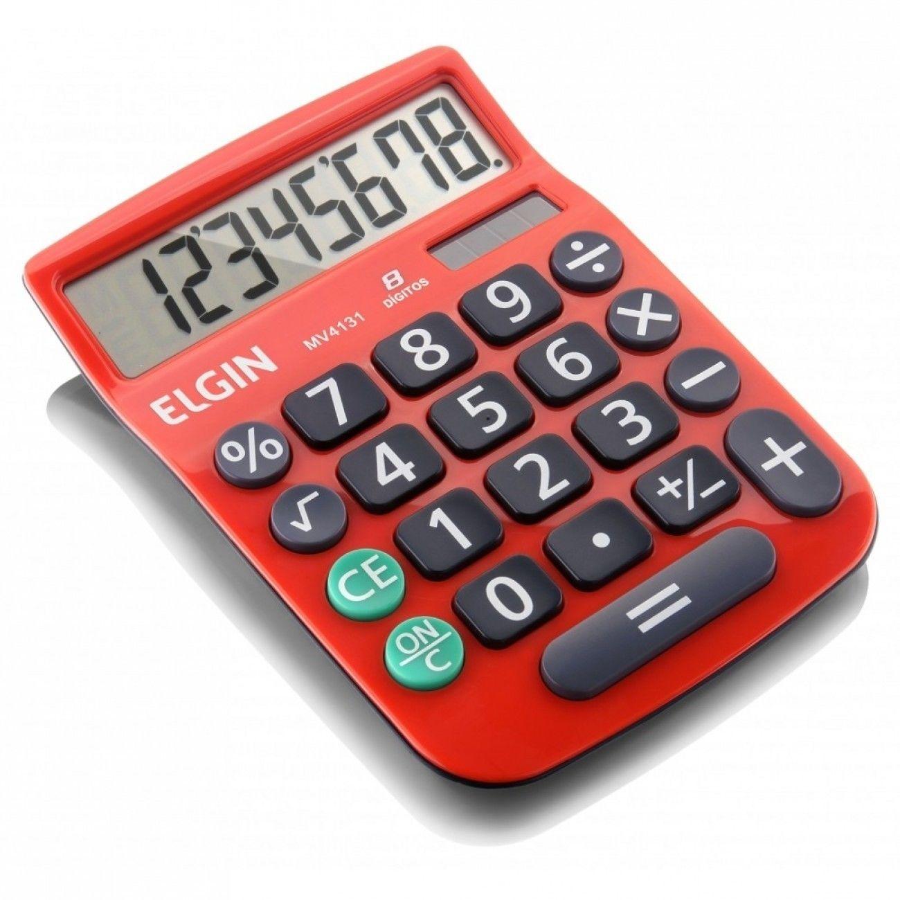 Calculadora de mesa elgin 8 d gitos mv4131 vermelha mv4131 for Calculadora de redes